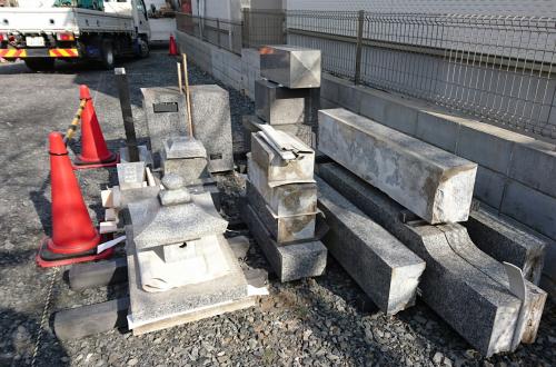 墓石を保管