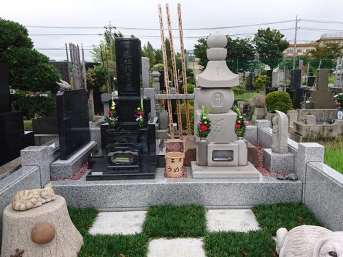 うめ家の墓地、松戸霊苑