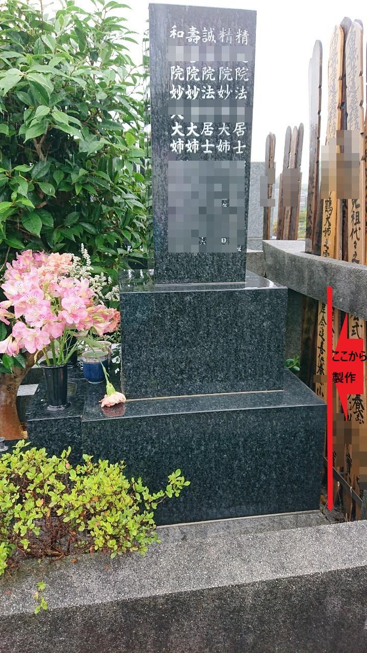 墓石のこの部分をリサイクル